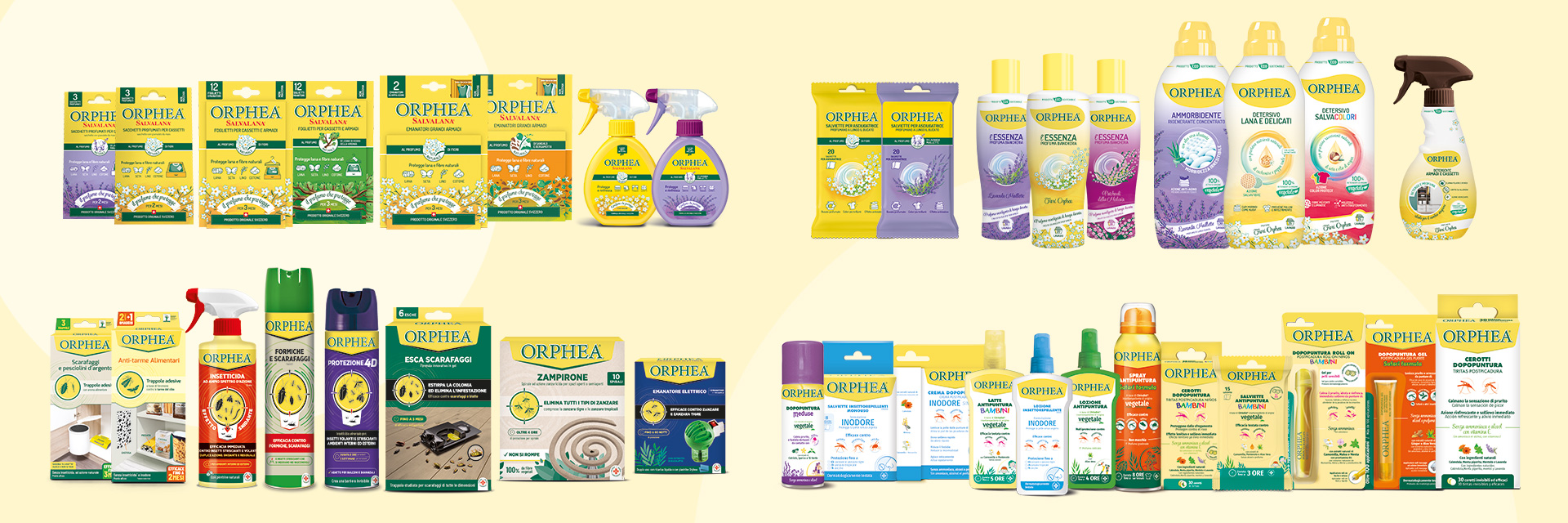 Orphea®: la linea dei prodotti.