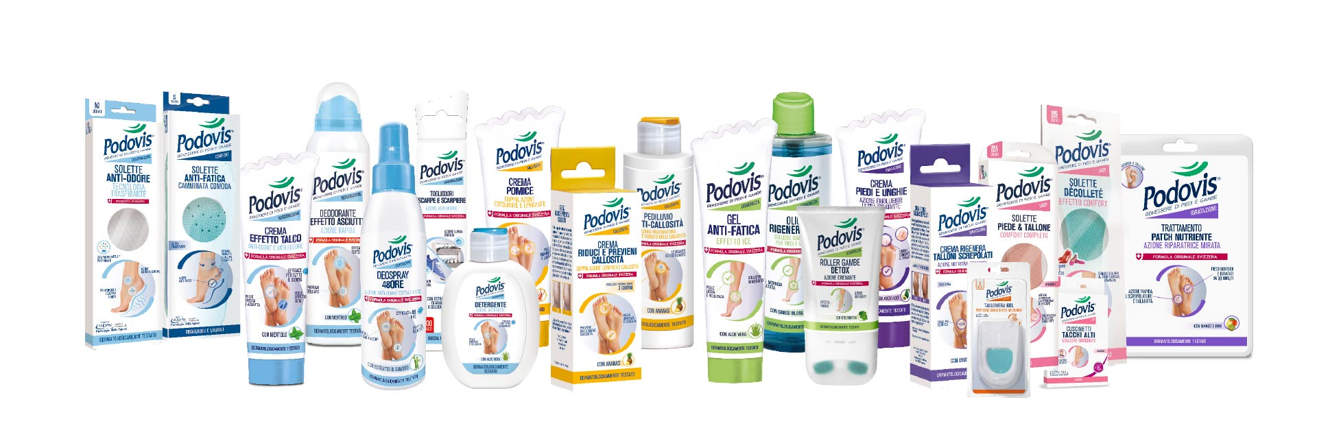 Podovis®: la linea dei prodotti.